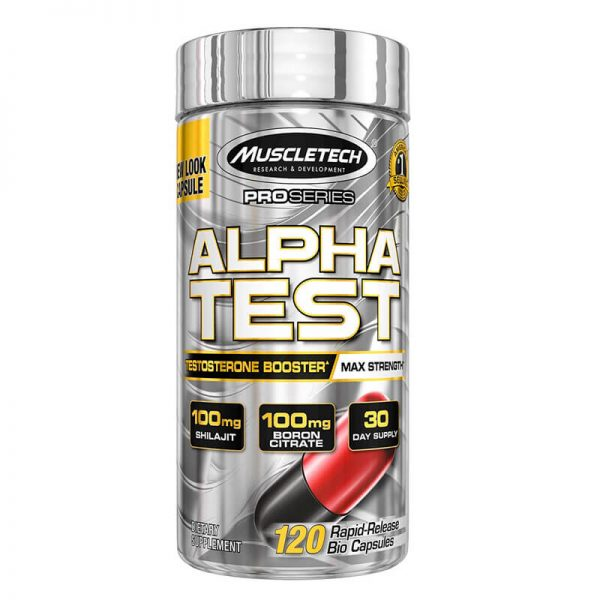 Muscletech Alphatest 120 capsules testosterone booster lowest price in pakistan